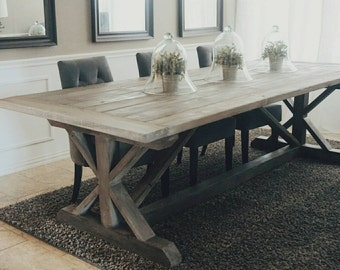 Awesome Made To Order 108 Inch X Style Farmhouse Trestle Table