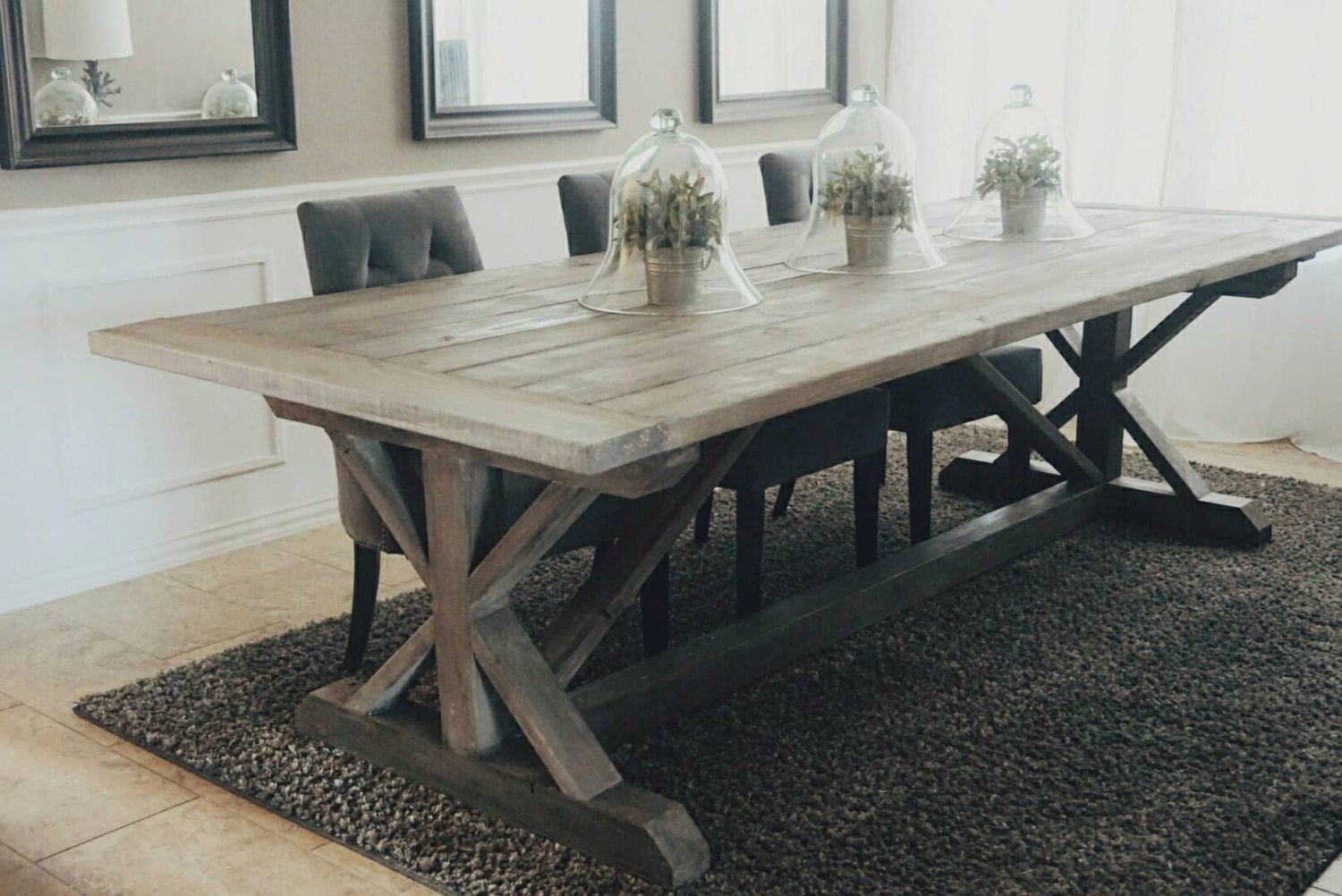 trestle table | etsy