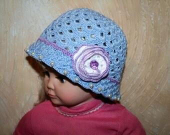 Hat for girls. Baby hat. Crochet baby hat.
