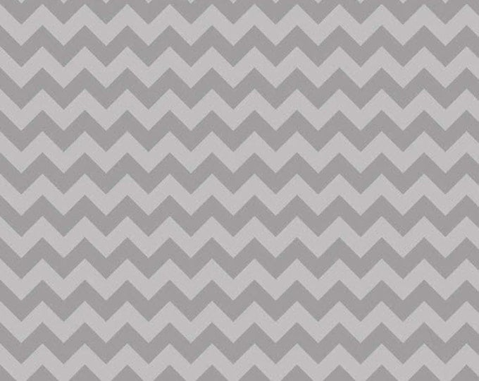 One Yard Small Chevron - Tone on Tone in Gray - Cotton Quilt Fabric - C400-41 - by RBD Designers for Riley Blake Designs (W3330)