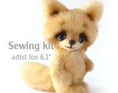 """Sewing kit artist teddy fox 6,1"""" with step by step pdf tutorial"""