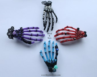 Gothic Skeleton Bone Hand Hair clip Accessory