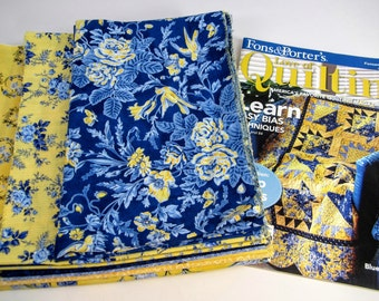 """Blue Banquet 54"""" x 54"""" Quilt Kit With Magazine Instructions"""