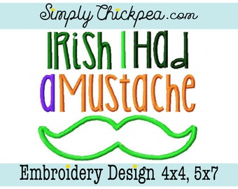 irish mustache shirt etsy. Black Bedroom Furniture Sets. Home Design Ideas