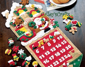Bucilla Santa's Toy Shop ~ Felt Christmas Advent Calendar Kit #85127 Store, 2004 DIY