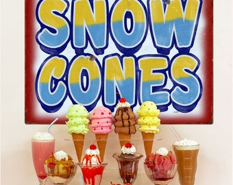 Snow Cones Carnival Food Wall Decal - #59410