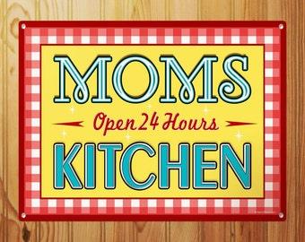 Moms Kitchen 24 Hour Diner Sign - #56850