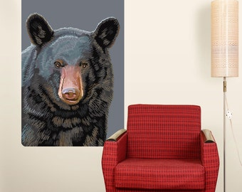 Black Bear Portrait Nature Wall Decal - #60968