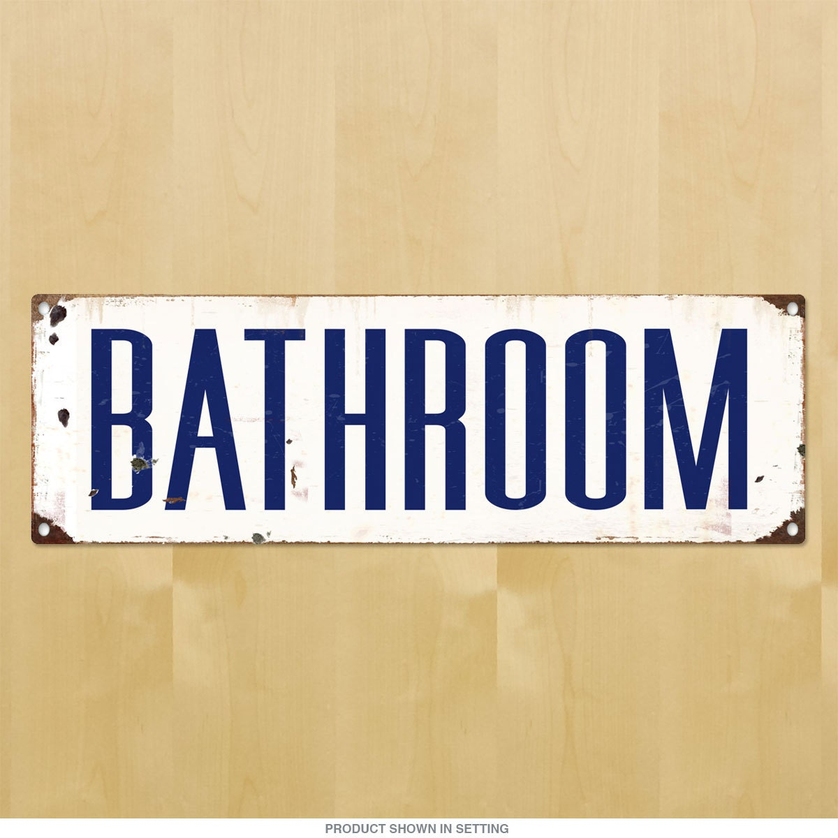 Bathroom Unisex Porcelain Look Metal Sign 56822