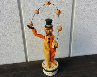 Halloween Folk Owl Figurine