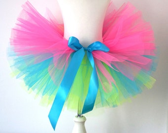 Girls Neon Tutu - Kids Tutu - Rainbow Tutu - Bright Tutu