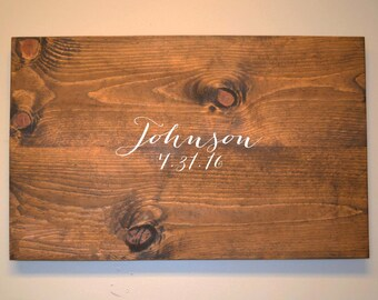 Rustic Guestbook, Rustic Guest book, Wooden Guestbook, Rustic Wedding, Guest Book Alternative, Guestbook Alternative, Personalized