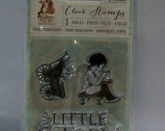 LITTLE STORY Bedtime Story Prima Flowers Clear Stamps