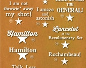 Hamilton Inspired Decals - Buy 4 get 1 Free