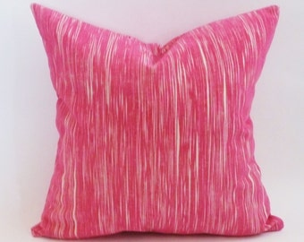 "Ready to Ship 20""x20"" Christopher Farr Cloth Downey Pillow Covers  in Hot Pink"