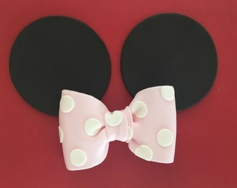Inspired Minnie Mouse Fondant ears and bow