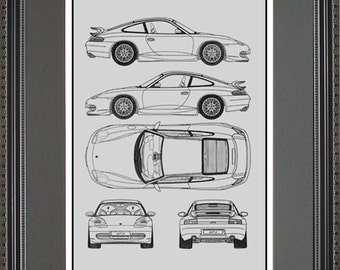 Bmw blueprint collection drawing art car auto gift bbmwo2024 nissan blueprint framed art car auto gift choose your model bniss malvernweather Choice Image