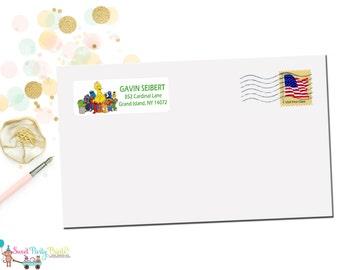 Sesame Street Return Address Labels (SKU: SSAL01)