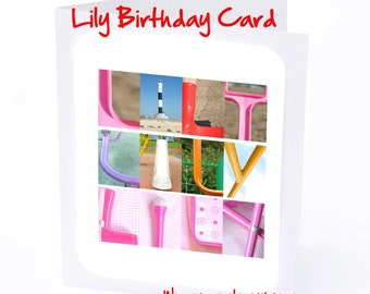 Lily Personalised Birthday Card