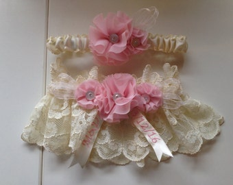 Coordinating Embroidery Add-On to Garter Purchase