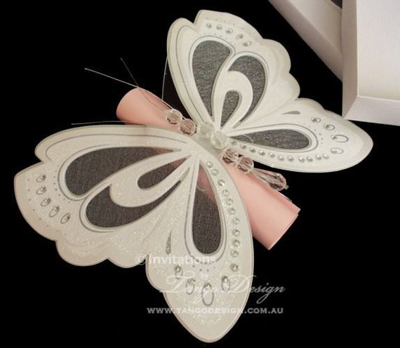 Butterfly Quinceanera Invitations with amazing invitation layout