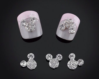 4 Mouse Ears Nail Charms