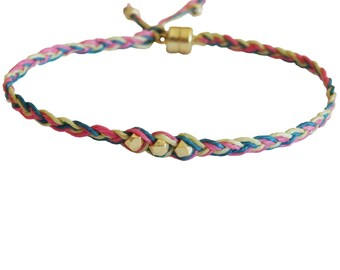 Neon Braided Wrap Friendship Bracelet
