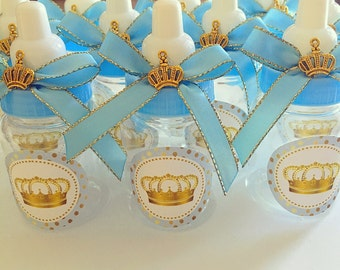 12 Little Prince Baby Shower Favors   Little Prince Blue And Gold  Royal Prince  Baby