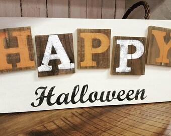 Happy Halloween Rustic sign