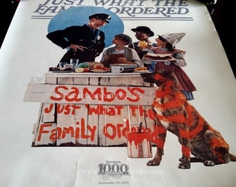 Vintage Sambo's Saturday Evening Post Poster - Limited Edition - Rare