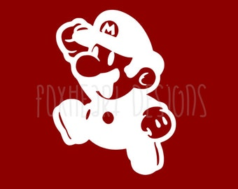 Mario Decal - Super Mario Decal -  Nintendo Decal - Car Decal