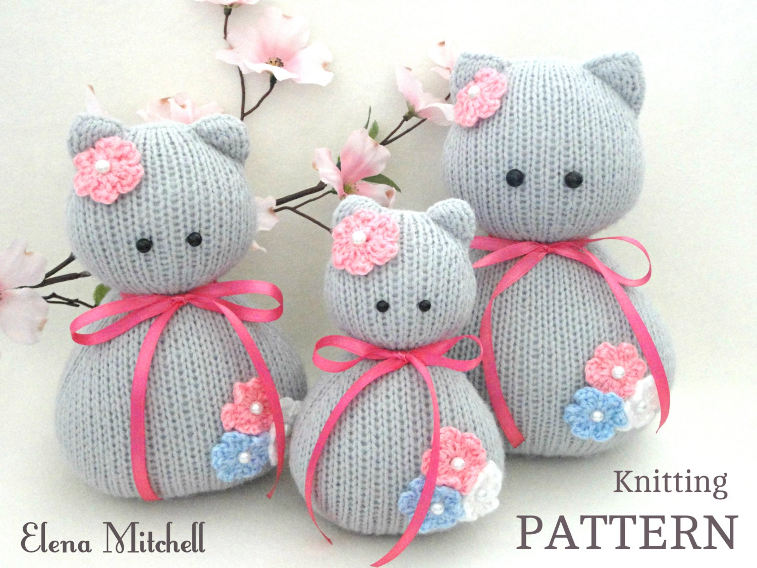 Free Toy Knitting Patterns Only : Knitting PATTERN Animal Knit Pattern Cat Animal Patterns