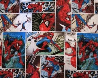 "1/2 yard of 100% cotton ""Spiderman"" Fabric"