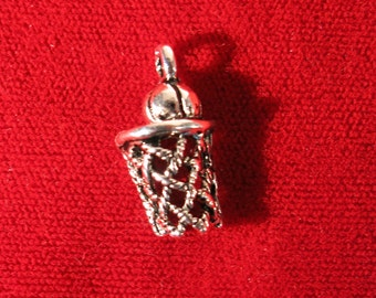 """BULK! 15pc """"Basketball"""" charms in silver style (BC995B)"""