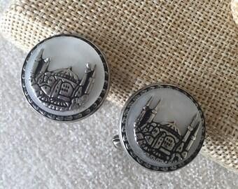 Sale Vintage 800 silver Empire cufflinks