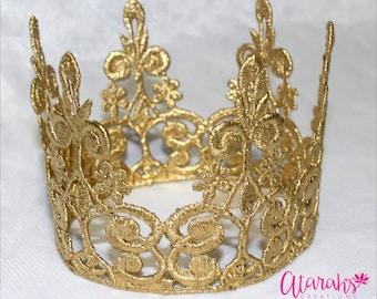 Gold crown Cake topper / Crown Cake Topper / Cake Topper Photo Prop /cake smash crown / MADE IN USA.