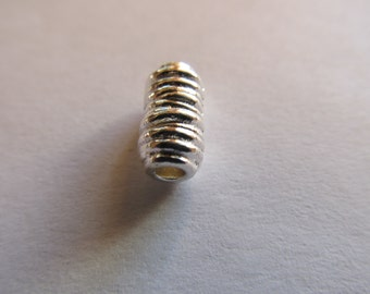2 tubes plt silver fit charm 11x6mm