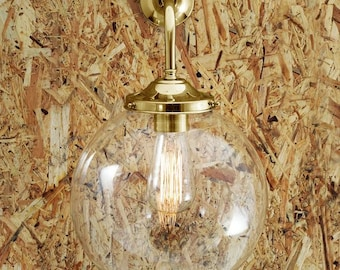 Bamako 25cm Clear Globe Wall Light