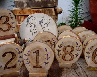 numbers for table decoration