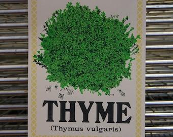 THYME Kitchen Herb Screenprint
