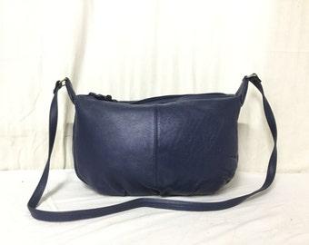 Partners, Blue Leather Purse,bag, Shoulder Bag
