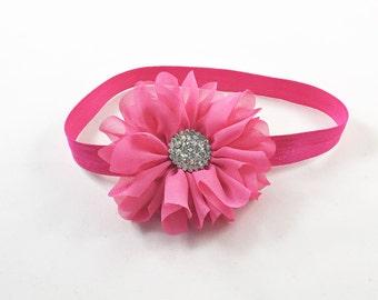 Hot Pink Headband, Hot Pink Baby Headband, Hot Pink Flower Girl Headband, Hot Pink Birthday Headband, Hot Pink Baby Headband, Hot Pink Clip