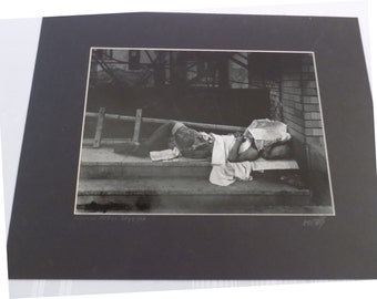 Vintage 1946 Signed A.E. Woolley Photograph 16x20