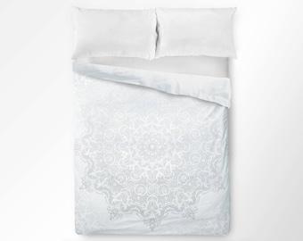 mandala duvet cover duvet cover boho white duvet cover bohemian duvet cover