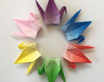 "1000 3"" Gradient Origami Paper Cranes (Senbazuru), Wedding Decoration, Party Decoration"