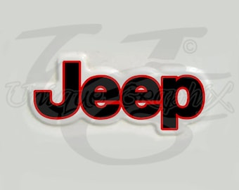 Jeep 2 color Fender Decal Stickers 1 pair