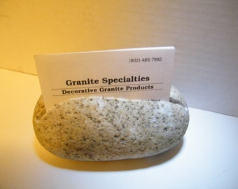 Rock Business Card Holder/ Natural Stone Business Card Holder/Desk Card Holder, Business Card Holder