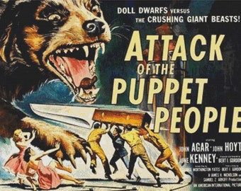 Attack of the Puppet People PDF Cross Stitch Pattern
