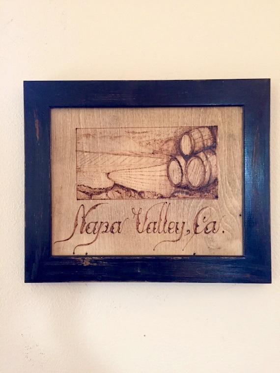 Original art wine art wine decor napa valley wine cellar - Napa valley home decor decor ...