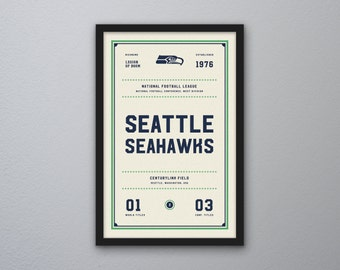 "Seattle Seahawks ""Day & Night"" Print"
